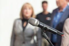 Conferenza stampa Immagini Stock