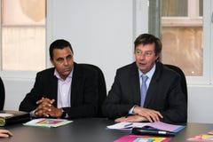 Conferenza stampa del tirante Delage Fotografie Stock Libere da Diritti