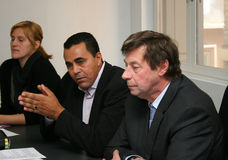 Conferenza stampa del tirante Delage Fotografia Stock
