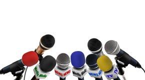 Conferenza stampa di media Immagini Stock Libere da Diritti