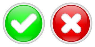 Confermi e diminuisca i tasti Immagine Stock