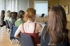 Conferência das mulheres Fotografia de Stock