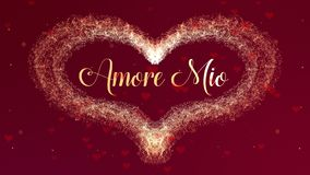 Confesi?n de Amore Mio Love El coraz?n del d?a de tarjeta del d?a de San Valent?n hizo del chapoteo del vino tinto aislado en el  fotografía de archivo