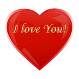 Confesión del amor escrita en un corazón Foto de archivo libre de regalías