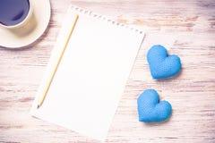 Confesión el día de tarjetas del día de San Valentín Foto de archivo libre de regalías