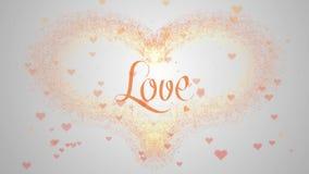 Confesi?n del amor El coraz?n del d?a de tarjeta del d?a de San Valent?n hizo de chapoteo anaranjado est? apareciendo r aislado e libre illustration