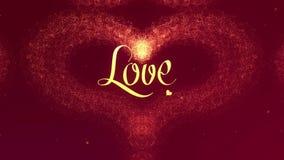 Confesi?n del amor El coraz?n del d?a de tarjeta del d?a de San Valent?n hizo de chapoteo de oro est? apareciendo r como premios  ilustración del vector