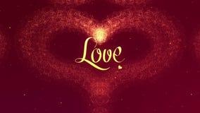 Confesi?n del amor El coraz?n del d?a de tarjeta del d?a de San Valent?n hizo de chapoteo de oro est? apareciendo r enmascarado libre illustration
