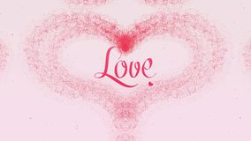 Confesi?n del amor El coraz?n del d?a de tarjeta del d?a de San Valent?n hizo de chapoteo rosado est? apareciendo r Aislado en lu libre illustration