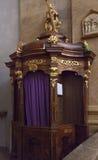 Confesional fotos de archivo