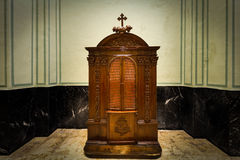 confesional Foto de archivo