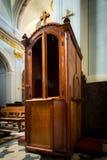 confesional Fotos de archivo libres de regalías