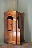 Confesonario de madera Imágenes de archivo libres de regalías