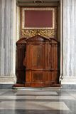 Confession booth. In Catholic Church in Rome Royalty Free Stock Images
