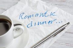Confession d'amour sur la serviette Photo stock