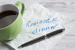 Confession d'amour sur la serviette Images libres de droits