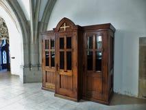 Confessional в церков стоковая фотография rf