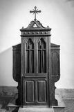 Confessional, the black-and-white Royalty Free Stock Photos