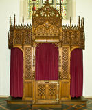 Confessional cabinet Stock Photo