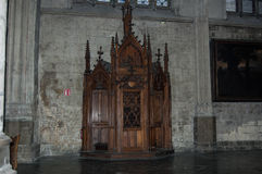 Confessional in a cathedral Royalty Free Stock Image