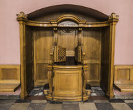 Confessional in the church Royalty Free Stock Photography
