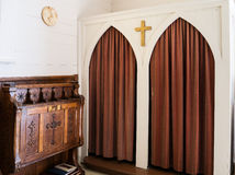 Confessional at historic chapel Stock Photography