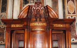 Confessional In St. Peter S Basilica, Vatican City Royalty Free Stock Photos