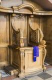 Confessionali di legno Fotografie Stock Libere da Diritti