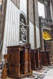 Confessionals in St Peter`s Basilica, Vatican stock images