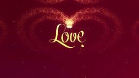 Confessione di amore Il cuore di San Valentino fatto della spruzzata del vino rosso sta comparendo Inizio vago r illustrazione di stock