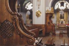 Confessionnal en bois Image libre de droits