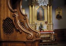Confessionnal en bois Image stock