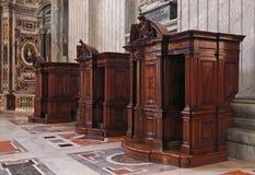 Confessionnel Photographie stock