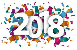 2018 confetes Imagem de Stock