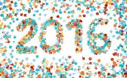 Confetes coloridos do carnaval 2016 isolados Imagens de Stock Royalty Free