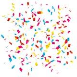 Confetes coloridos isolados no branco Explosão dos confetes ilustração do vetor