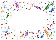 Confetes coloridos no fundo branco Fotos de Stock Royalty Free