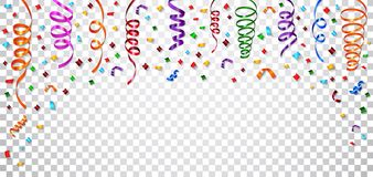 Confetes coloridos no fundo branco Foto de Stock