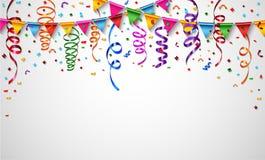 Confetes coloridos no fundo branco Imagens de Stock Royalty Free