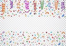 Confetes coloridos no fundo branco Fotografia de Stock Royalty Free