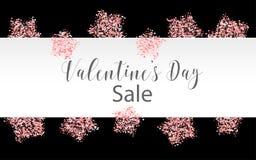 Confetes de papel cor-de-rosa do dia de Valentim Imagens de Stock Royalty Free