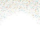 Confetes de queda coloridos em um fundo branco ilustração royalty free
