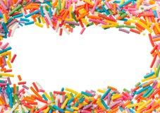 Confetes dos confeitos para o fundo da decoração do alimento Foto de Stock Royalty Free