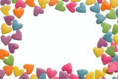 Confetes dos confeitos para o fundo da decoração do alimento Fotos de Stock Royalty Free