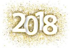 2018 confetes dourados Fotografia de Stock Royalty Free