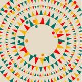 Confetes e bandeiras coloridos no cinza Imagem de Stock Royalty Free