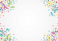 Confetes e flâmulas coloridos Foto de Stock