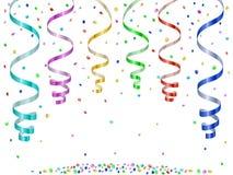 Confetes e serpentinas Ilustração Stock