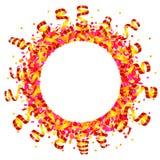 Confetes e sol serpentino Fotografia de Stock