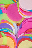 Confetes em cores brilhantes Fotos de Stock Royalty Free
